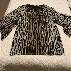 St John animal print shirt